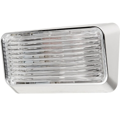 Porch Light #78 Clear w/Chrome Base