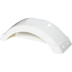 Fulton 008541 White Plastic Fender - 8 in. - 12 in. Tire Size