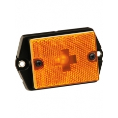 Amber Side Marker/Clearance Light with Reflex Lens